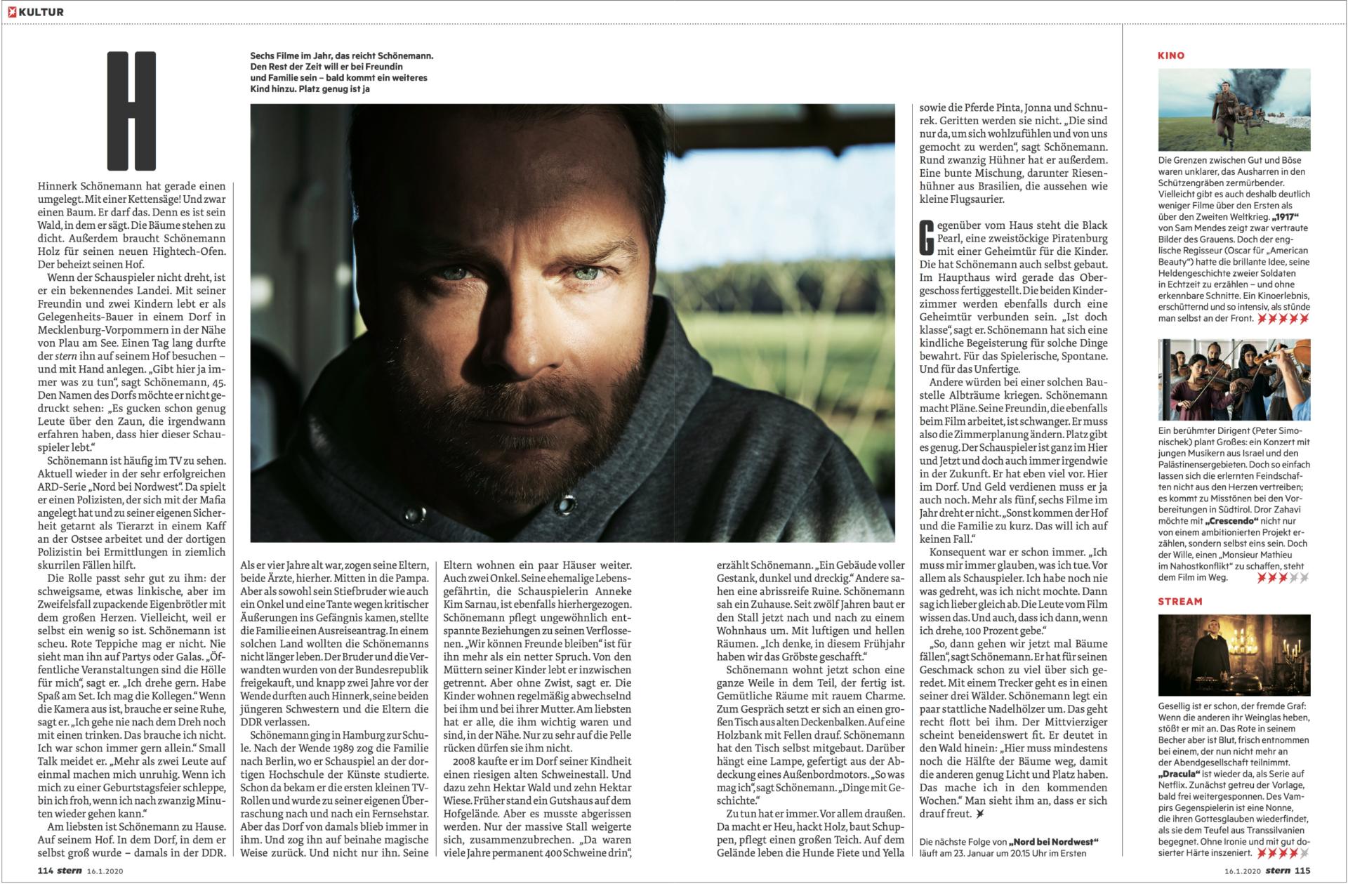 CAROLIN WINDEL Einen Tag mit Schauspieler Hinnerk Schönemann, STERN (more-click here)