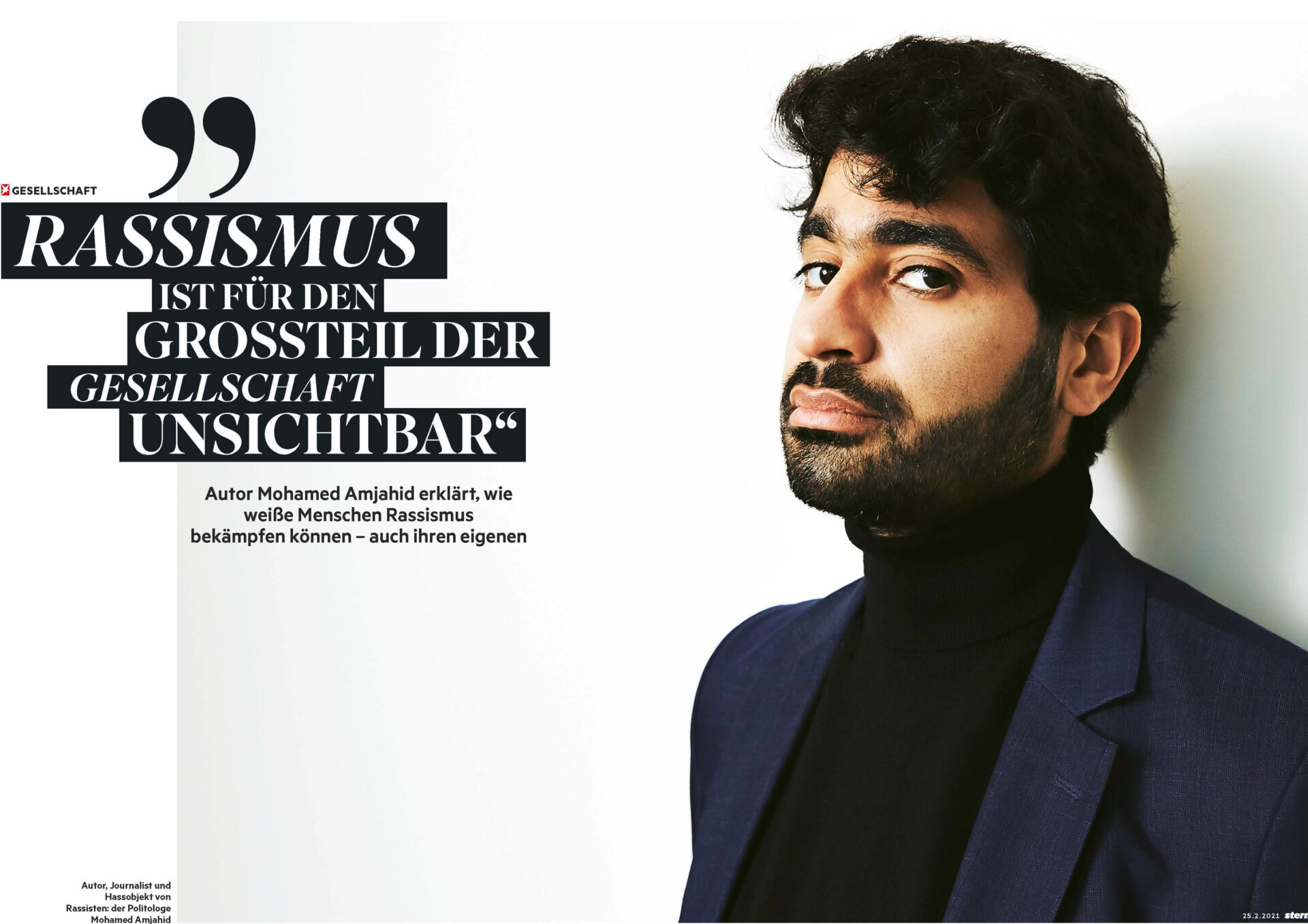 CAROLIN WINDEL Mohamed Amjahid, Autor und Journalist, Berlin